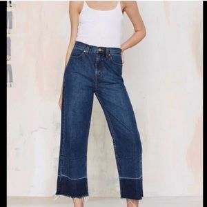 Nasty Gal Mad Crop Jeans
